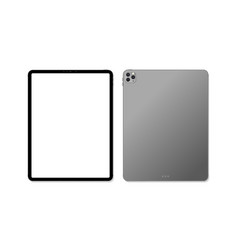 empty screen realistic new tablet mockup design vector image