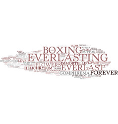 Everlasting word cloud concept vector