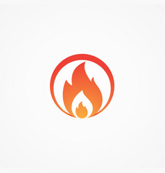 fire round shaped vector image