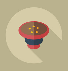 Flat modern design with shadow icons parts hookah vector