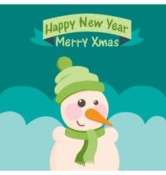 Funny Christmas postcard with Santa Claus vector image