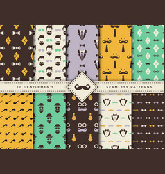 gentlemen patterns textile seamless backgrounds vector image