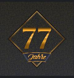 German golden number 77 templates vector