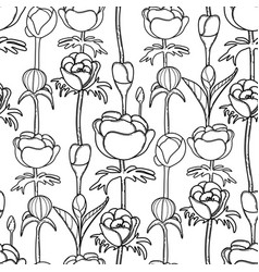 Graphic pattern of buds vector