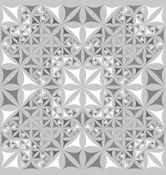 green repeating kaleidoscope pattern background vector image