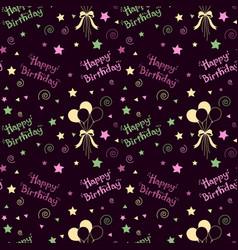 happy birthday pattern background vector image