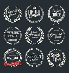 High quality laurel wreath collection vector