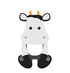 isolated stuffed cow toy vector image