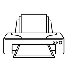 Jet printer icon outline style vector