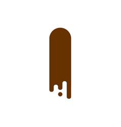 letter i chocolate font sweetness alphabet liquid vector image