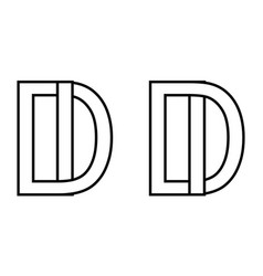 logo id di icon sign two interlaced letters i d vector image