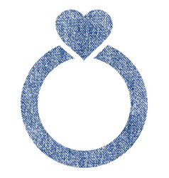 Love ring fabric textured icon vector