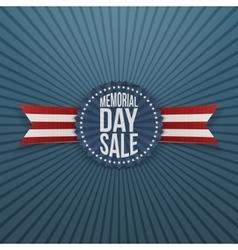 Memorial Day Sale greeting Badge and Ribbon vector image