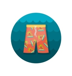 Men Beach Shorts flat icon vector image