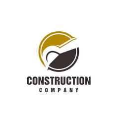 minimalist excavator and backhoe logo vector image