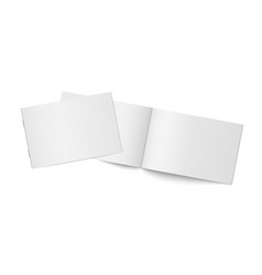 mockup two thin books isolated vector image