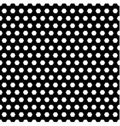 monochrome seamless pattern simple hexagonal vector image
