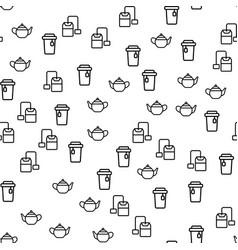 natural hot ceylon tea seamless pattern vector image