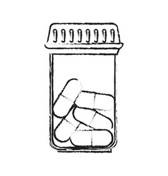 Pills flask healthcare related icon image vector