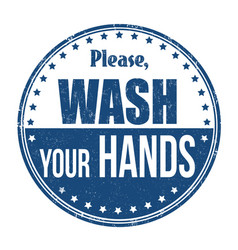 Please wash your hands grunge rubber stamp vector