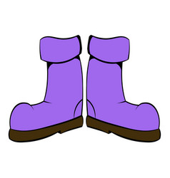 Rubber boots icon icon cartoon vector