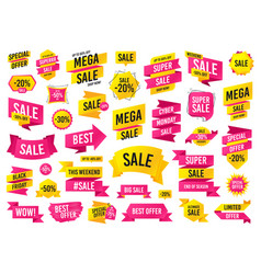 sale banner templates design mega sale special vector image
