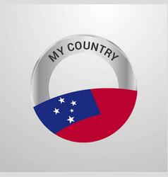 Samoa my country flag badge vector
