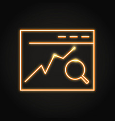 Search engine optimization icon in neon line style vector