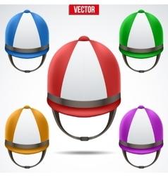 Set of Classic Jockey helmets vector image
