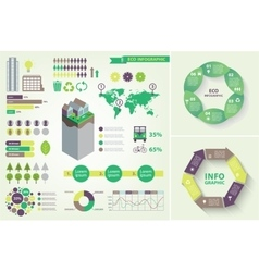 Set of eco infographic vector