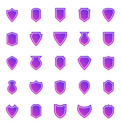 shield gradient icons on white background vector image
