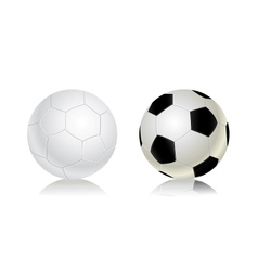 soccer balls icon set vector image