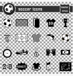 soccer icons football icons vector image