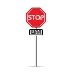 Stop war signs vector