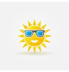 Sun with sunglasses bright icon vector image