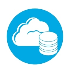 symbol database optimization server banner icon vector image