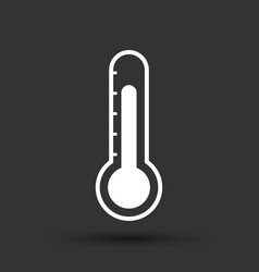 Thermometer icon goal flat isolated on black vector