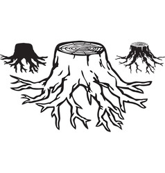 Tree stump design vector image