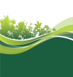 Trees and leaves background vector