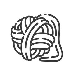 trendy line style icon about sewing toys - ball vector image