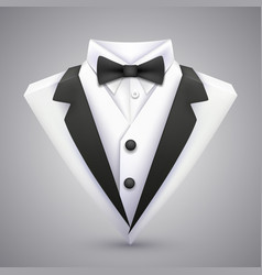 triangle jacket with a bow tie vector image