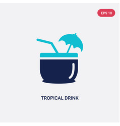 two color tropical drink icon from food concept vector image