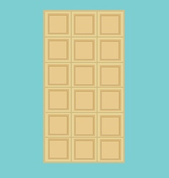 White chocolate bar vector