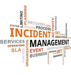 Word cloud incident management vector