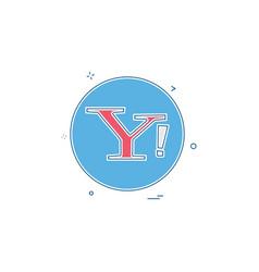 Yahoo social icon design vector