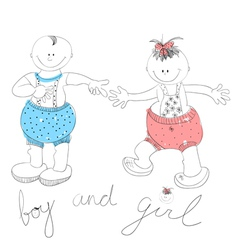 funny couple boy and girl vector image