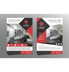 Greyred brochure flyer template design vector image