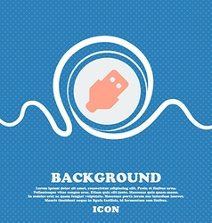 USB sign icon Blue and white abstract background vector image