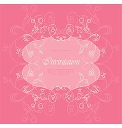 Wedding Floral card vector image vector image