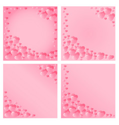 hearts design for valentines day vector image